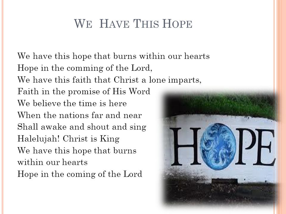 We Have This Hopeave This Hope