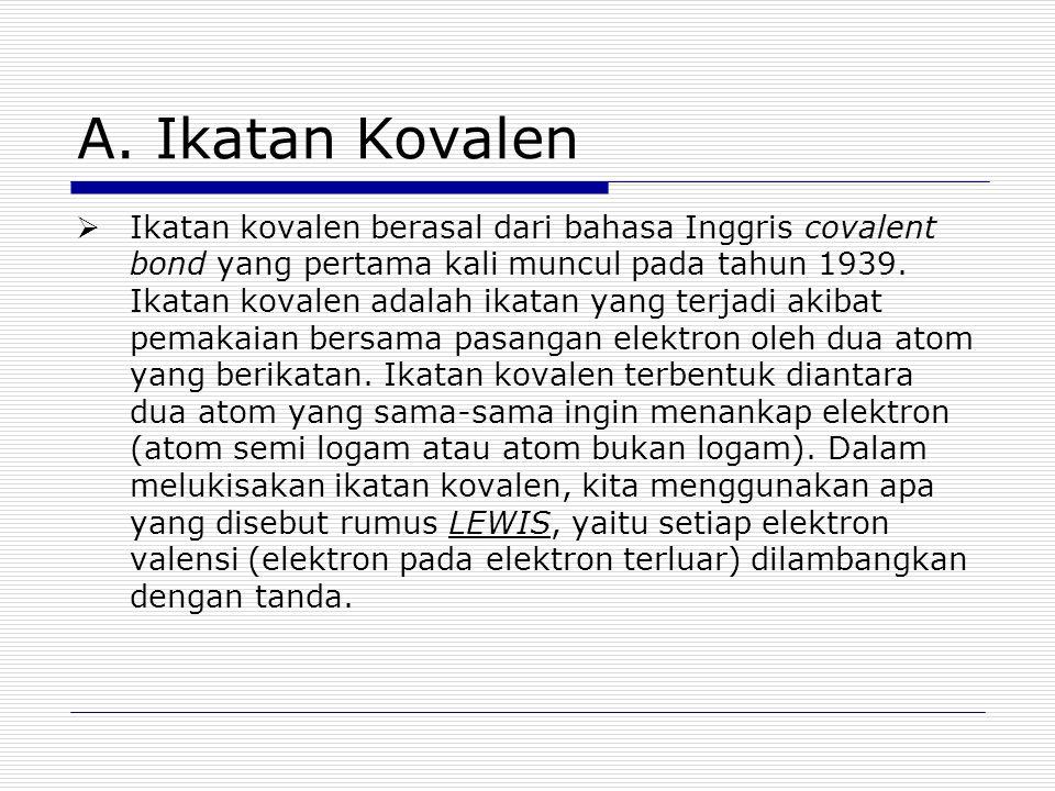 A. Ikatan Kovalen
