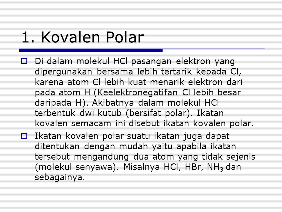 1. Kovalen Polar