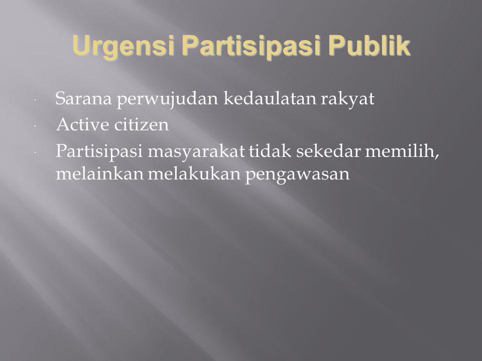 Urgensi Partisipasi Publik