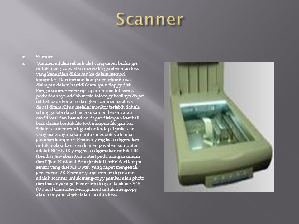 Scanner Scanner.