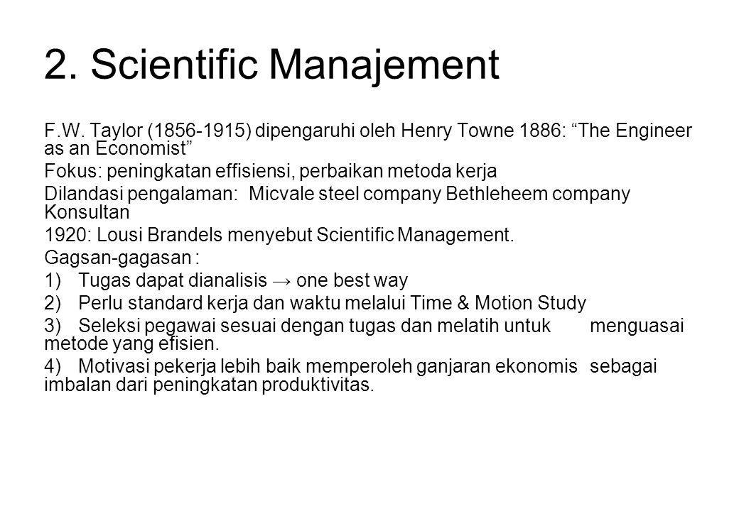 2. Scientific Manajement