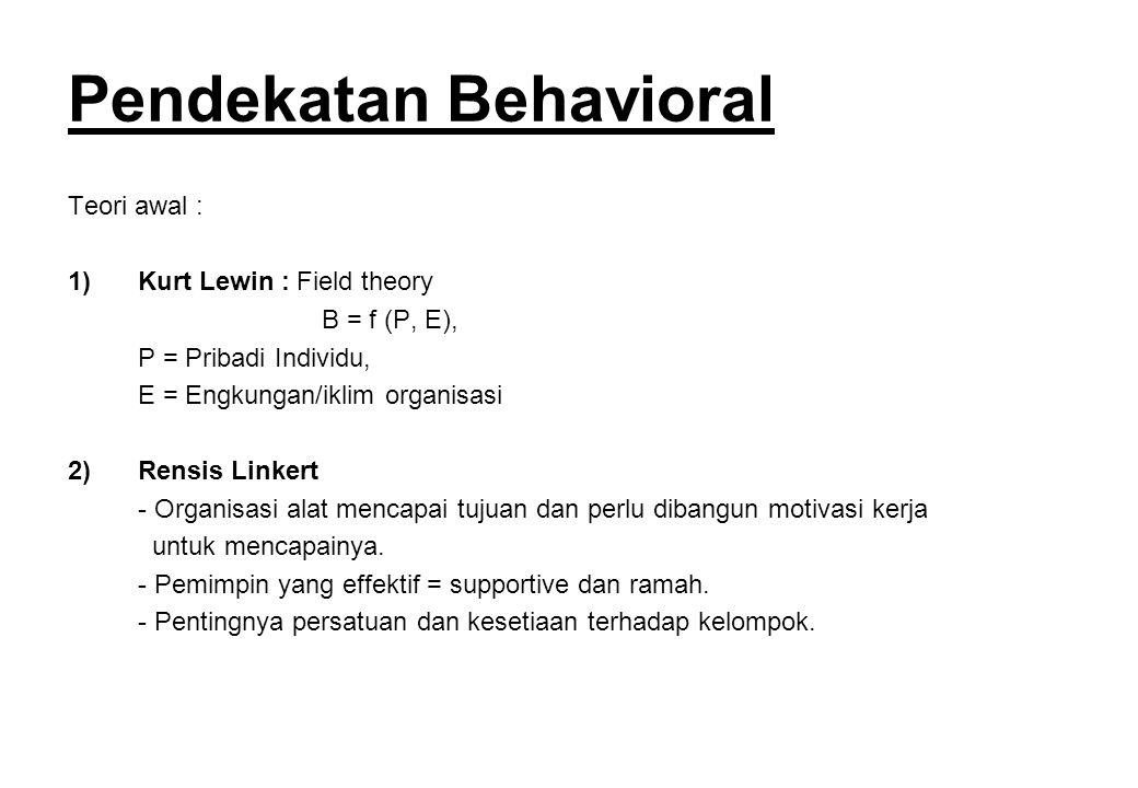 Pendekatan Behavioral