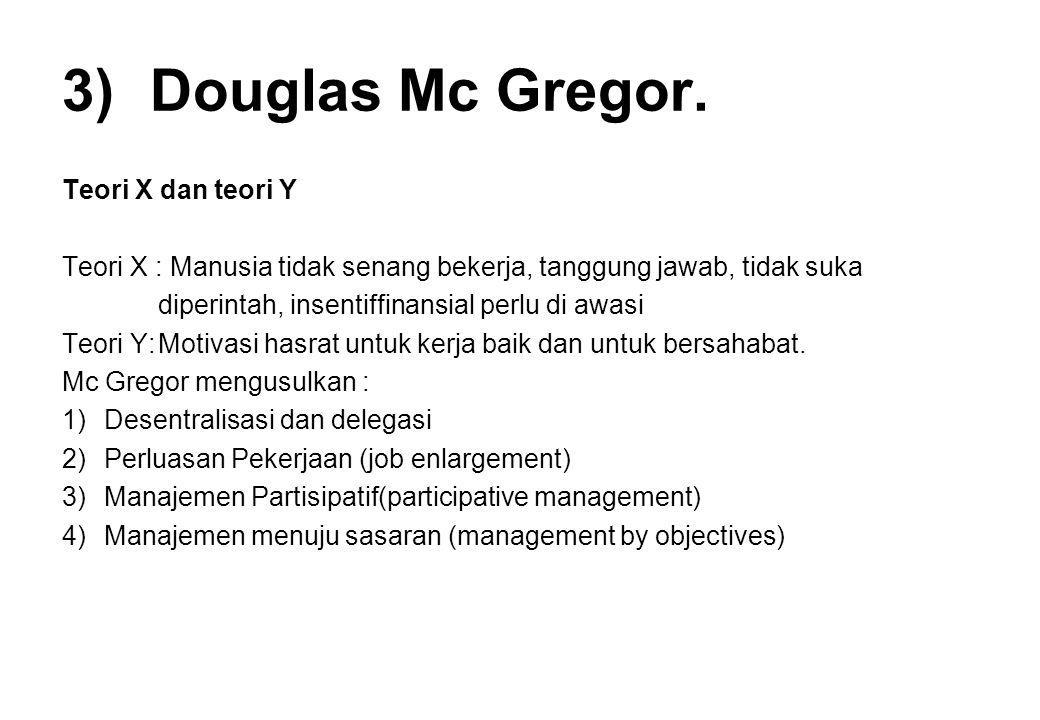 Douglas Mc Gregor. Teori X dan teori Y