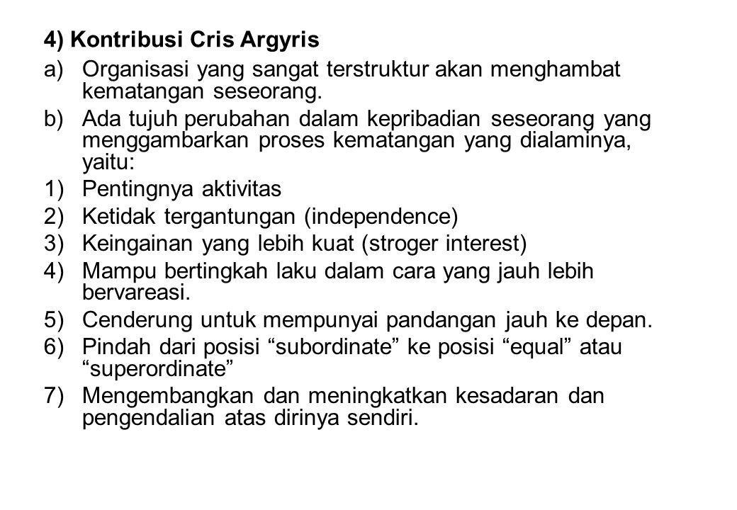 4) Kontribusi Cris Argyris