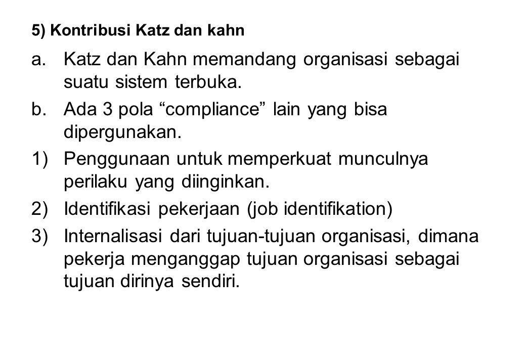 5) Kontribusi Katz dan kahn