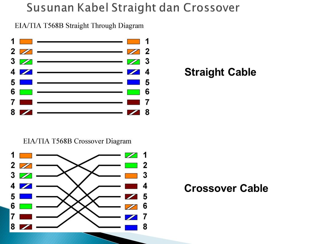 Susunan Kabel Straight dan Crossover