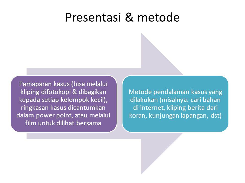 Presentasi & metode