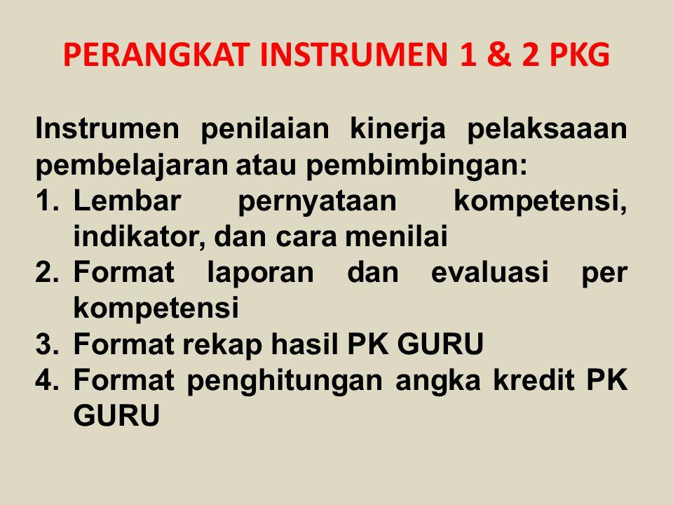 PERANGKAT INSTRUMEN 1 & 2 PKG