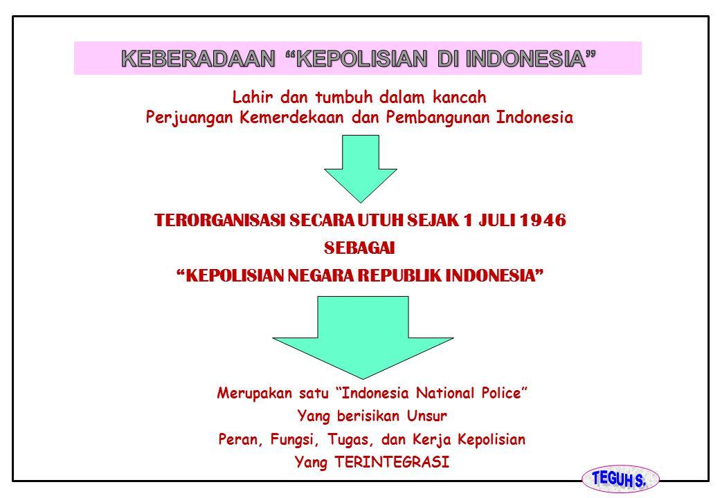 KEBERADAAN KEPOLISIAN DI INDONESIA
