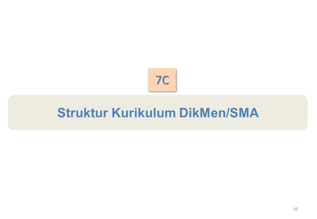 Struktur Kurikulum DikMen/SMA