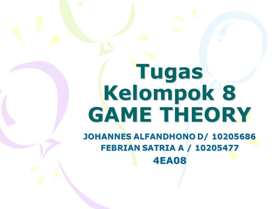 Tugas Kelompok 8 GAME THEORY