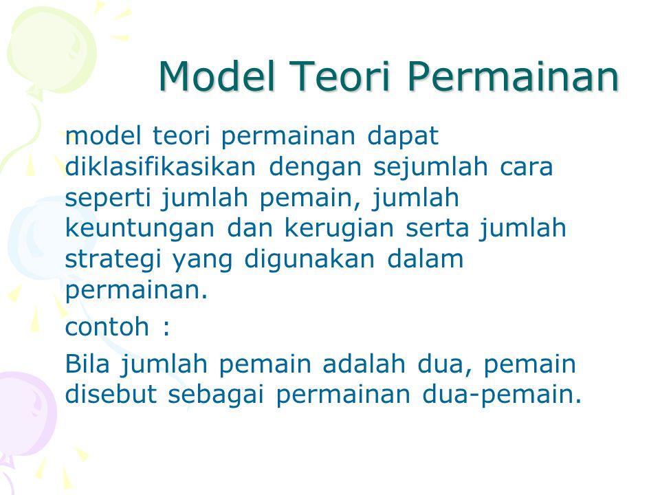 Model Teori Permainan