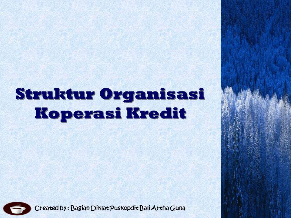Struktur Organisasi Koperasi Kredit