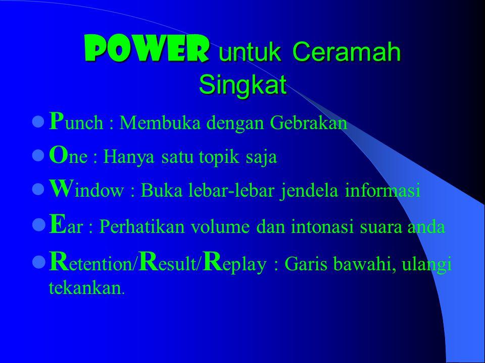 POWER untuk Ceramah Singkat