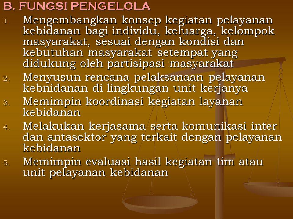 B. FUNGSI PENGELOLA