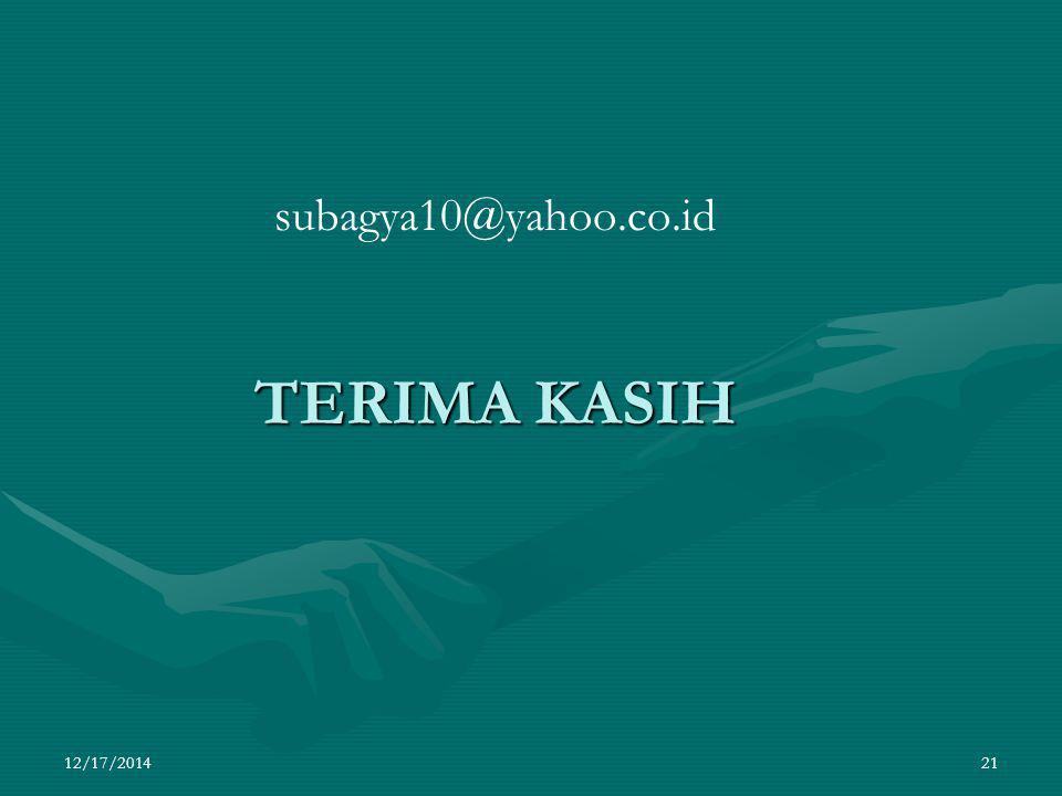 subagya10@yahoo.co.id TERIMA KASIH 4/7/2017