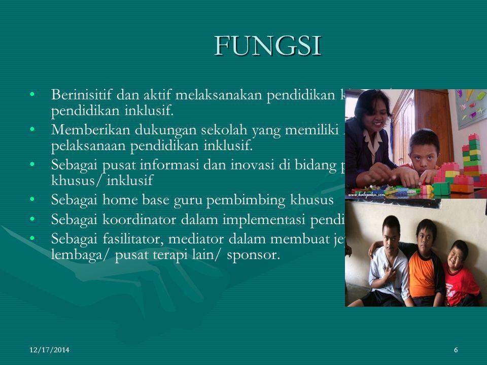 FUNGSI Berinisitif dan aktif melaksanakan pendidikan khusus/ pendidikan inklusif.