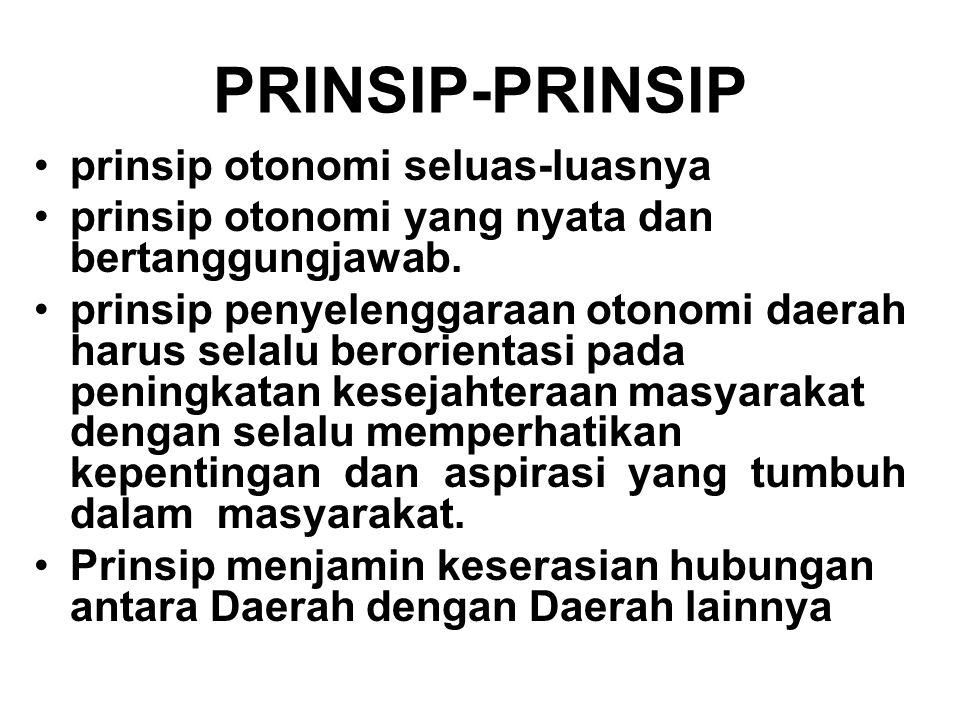 PRINSIP-PRINSIP prinsip otonomi seluas-luasnya