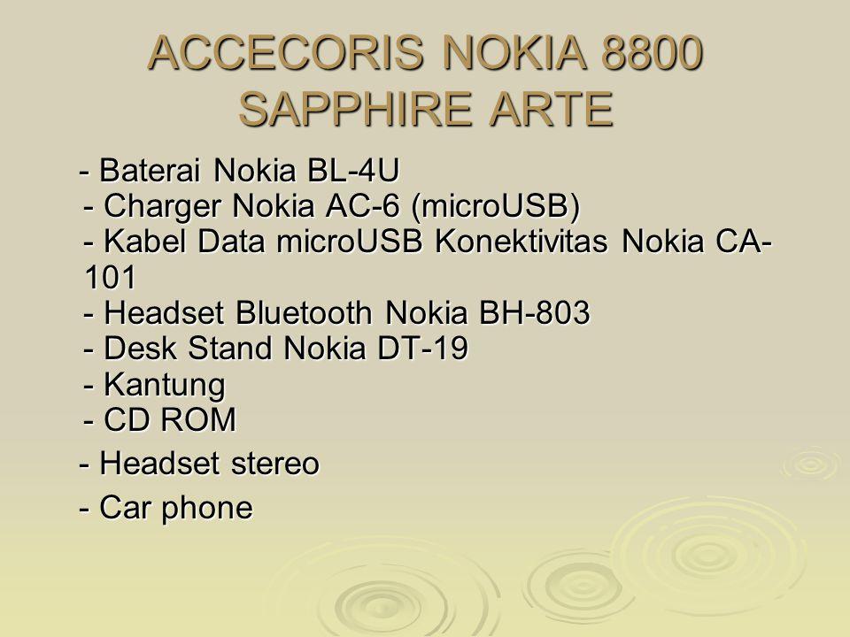 ACCECORIS NOKIA 8800 SAPPHIRE ARTE