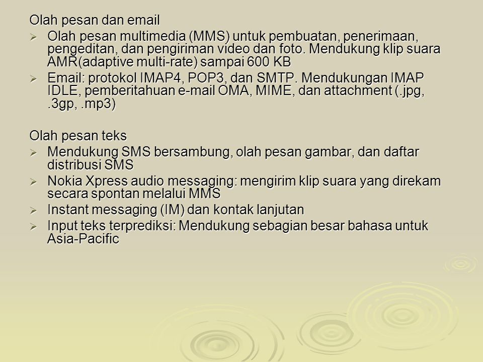 Olah pesan dan email
