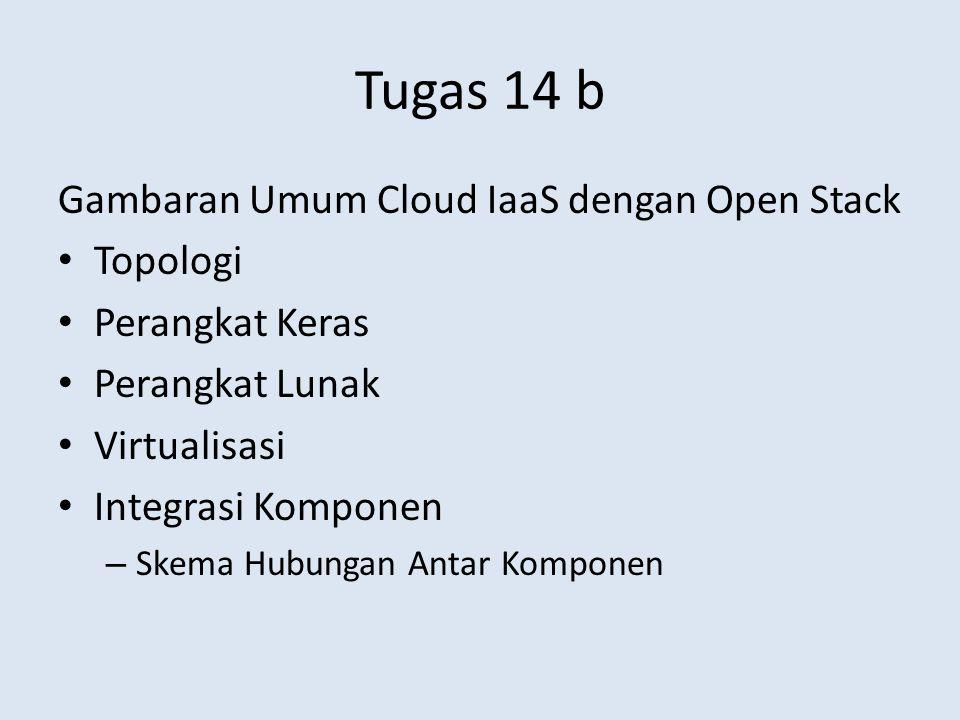 Tugas 14 b Gambaran Umum Cloud IaaS dengan Open Stack Topologi