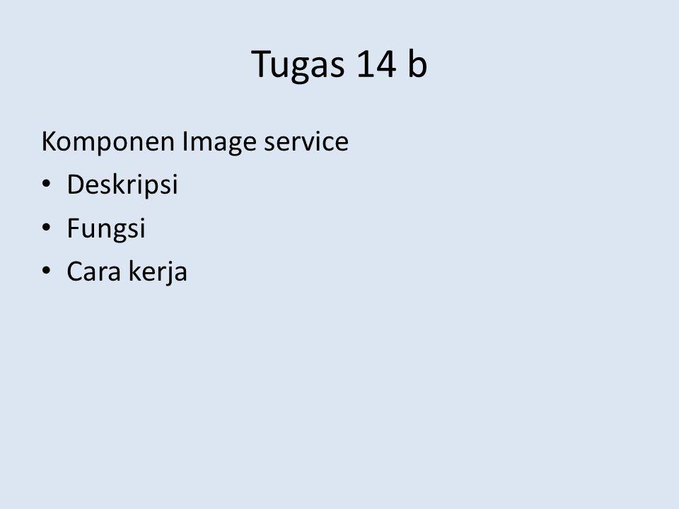 Tugas 14 b Komponen Image service Deskripsi Fungsi Cara kerja