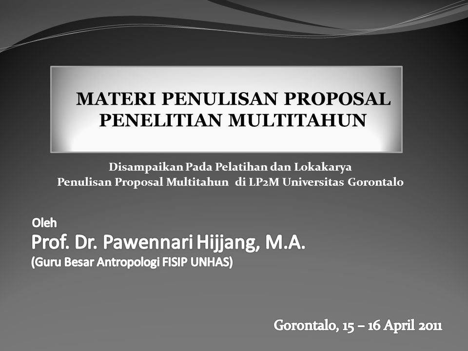 Prof. Dr. Pawennari Hijjang, M.A.