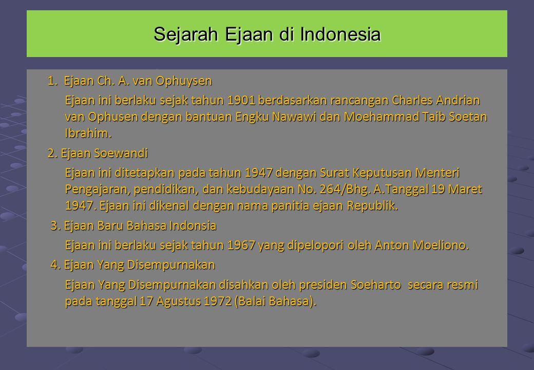 Sejarah Ejaan di Indonesia