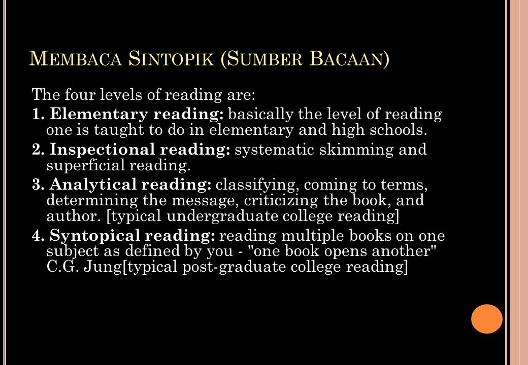 Membaca Sintopik (Sumber Bacaan)