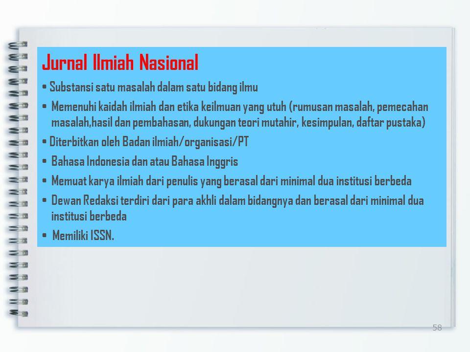 Jurnal Ilmiah Nasional