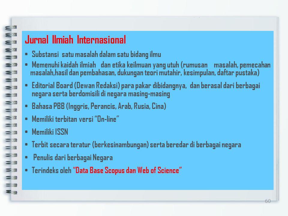 Jurnal Ilmiah Internasional
