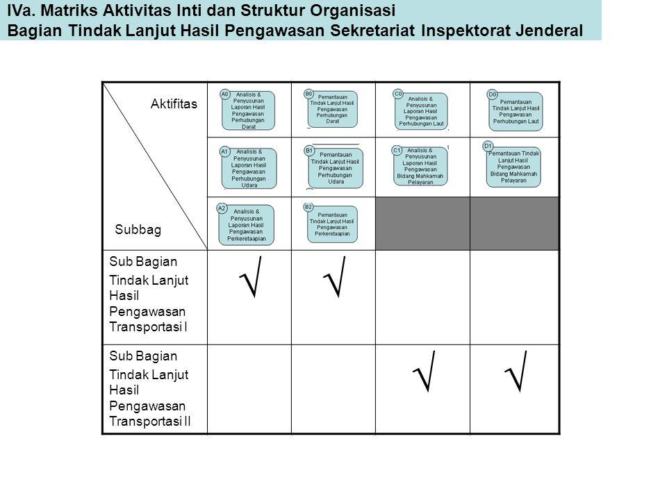  IVa. Matriks Aktivitas Inti dan Struktur Organisasi