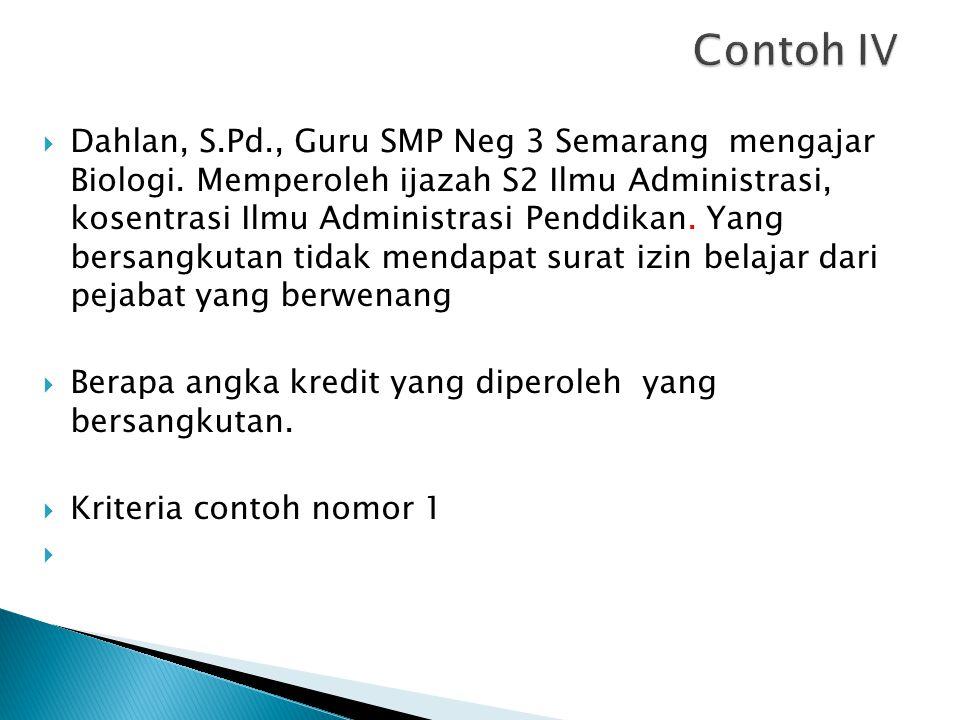 Contoh IV