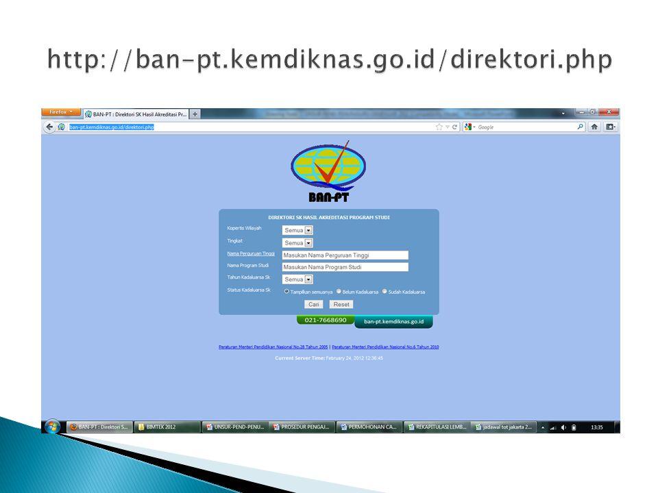 http://ban-pt.kemdiknas.go.id/direktori.php