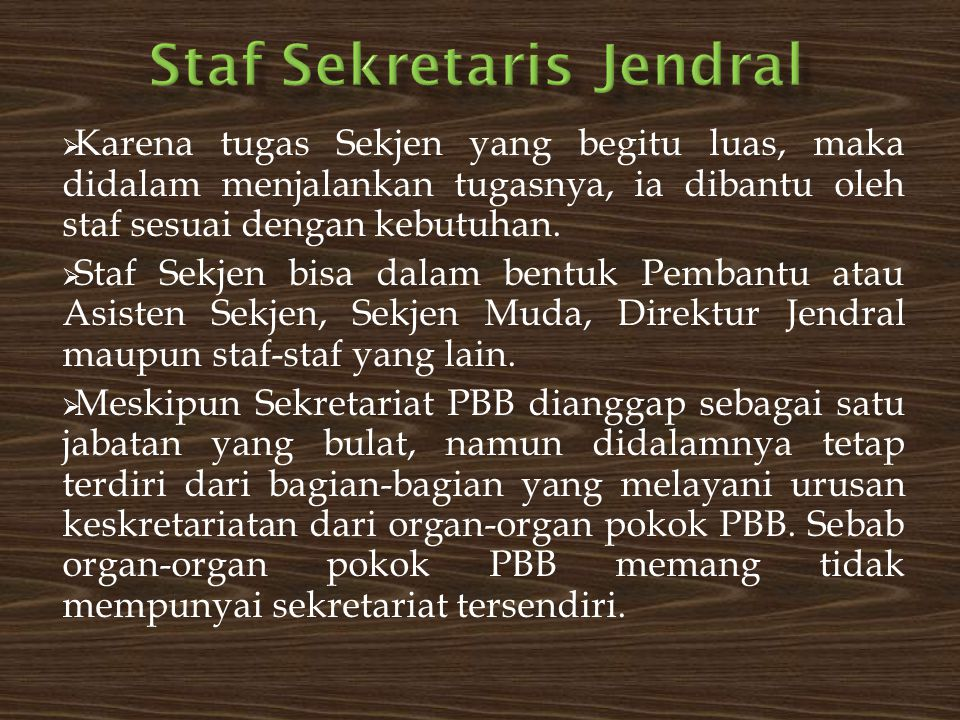Staf Sekretaris Jendral