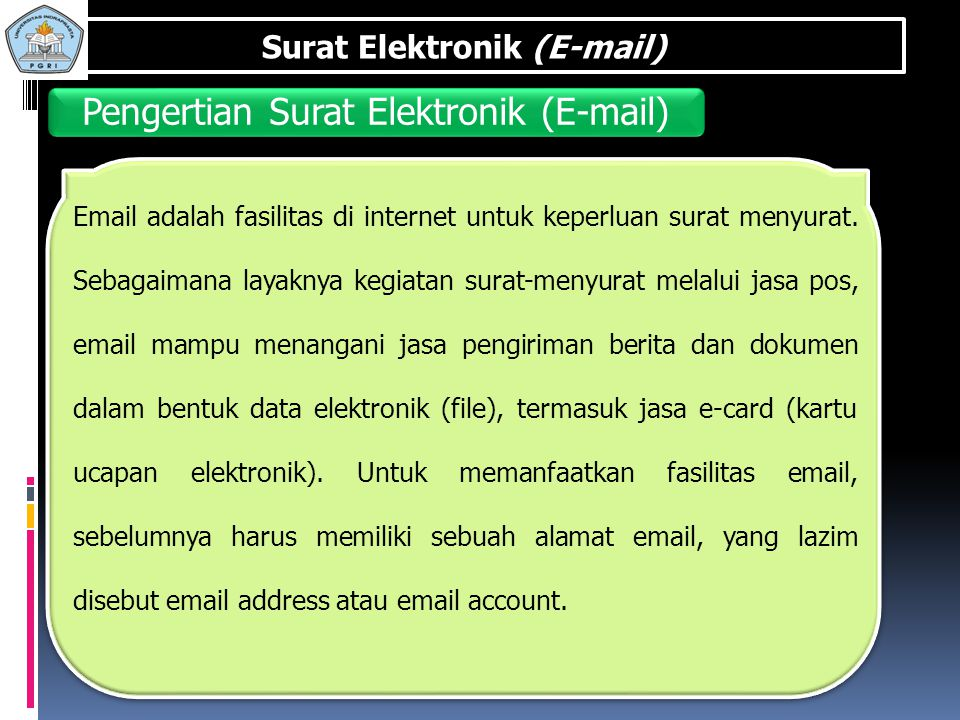 Pengertian Surat Elektronik (E-mail)