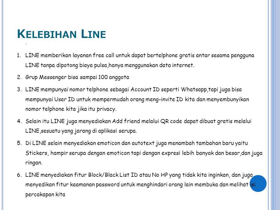 Kelebihan Line `