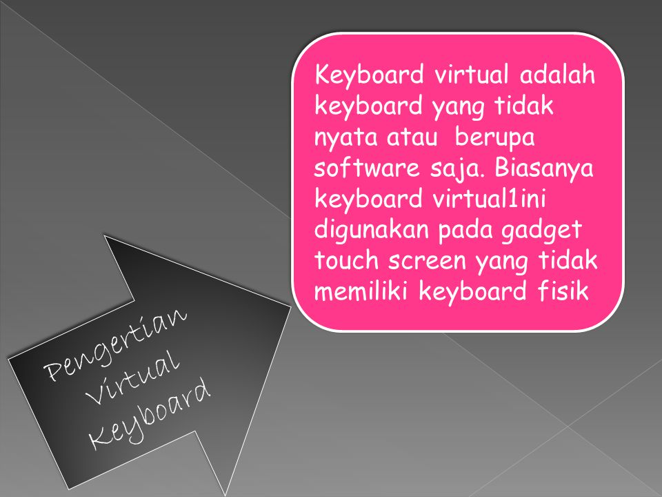 Pengertian Virtual Keyboard