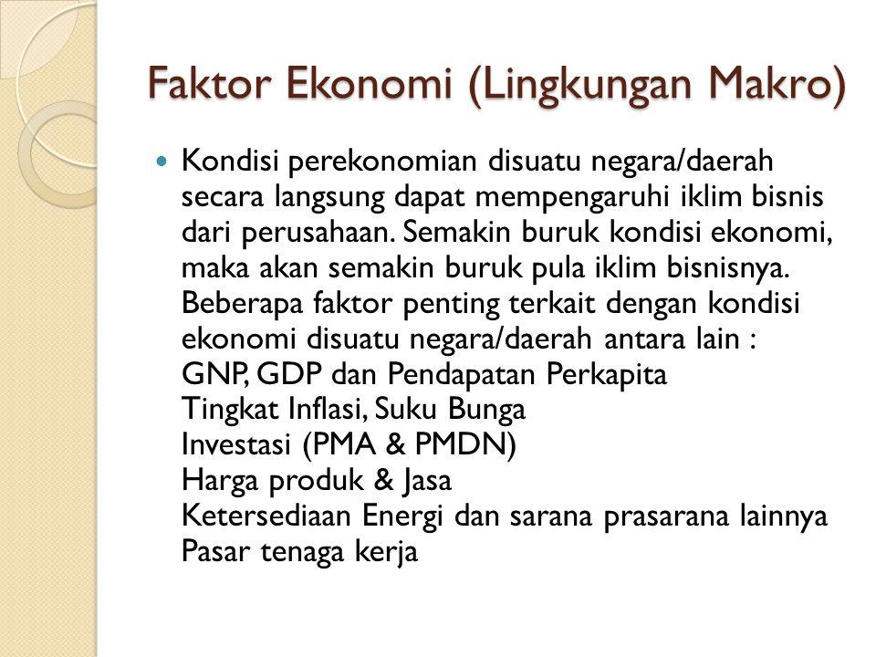Faktor Ekonomi (Lingkungan Makro)
