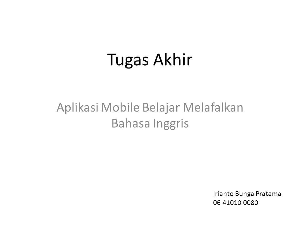 Aplikasi Mobile Belajar Melafalkan Bahasa Inggris