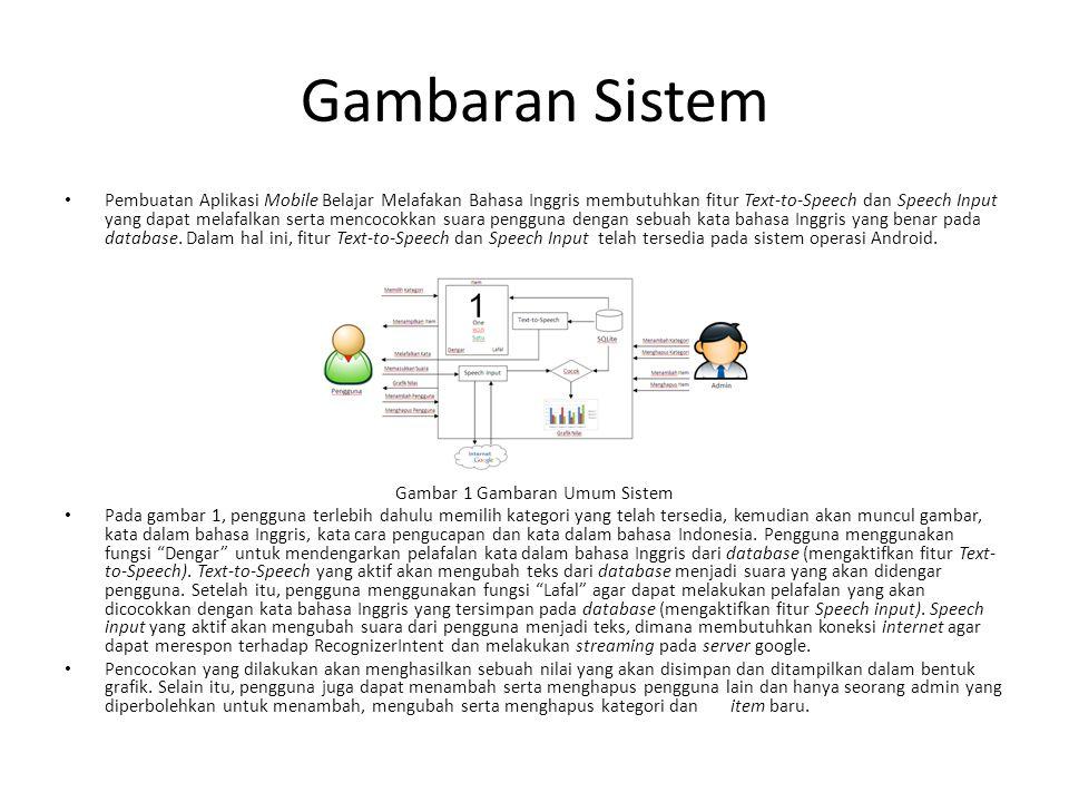 Gambar 1 Gambaran Umum Sistem