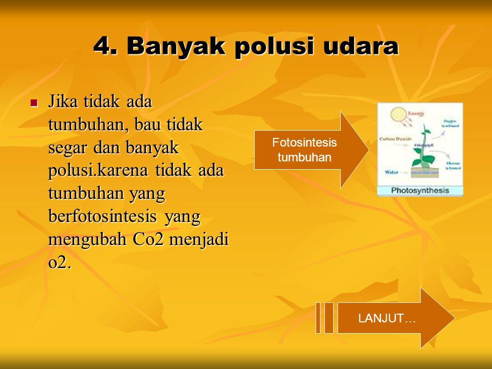 4. Banyak polusi udara