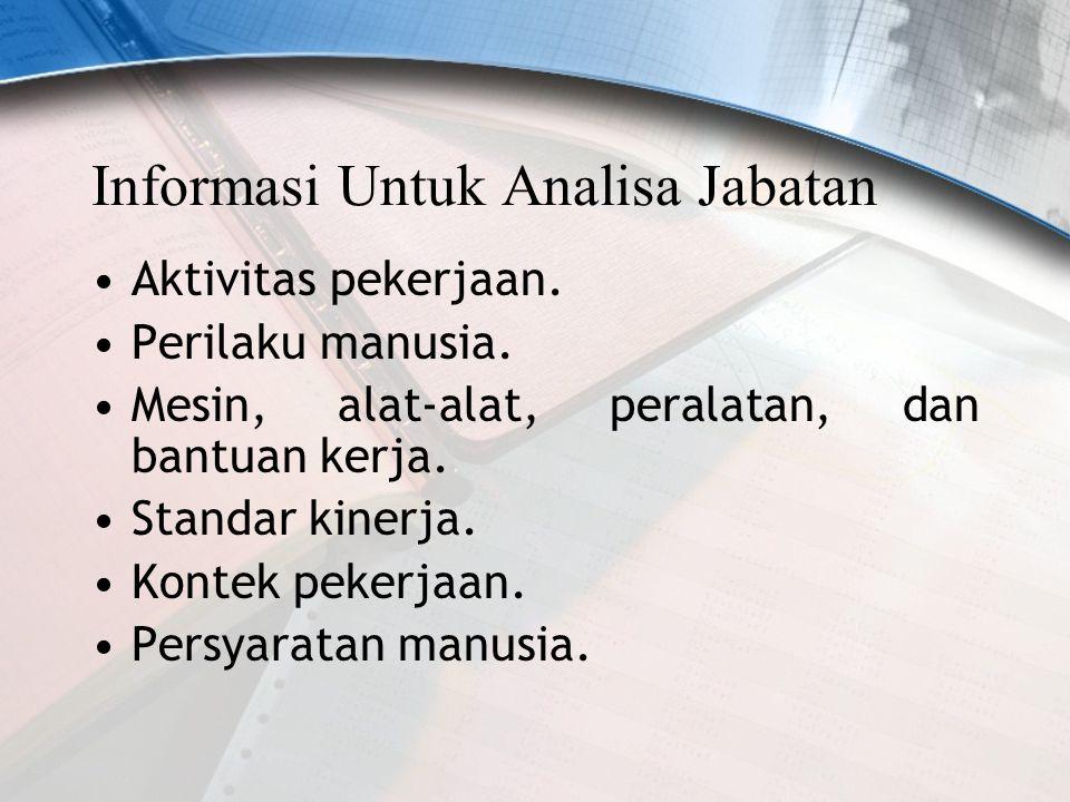 Informasi Untuk Analisa Jabatan