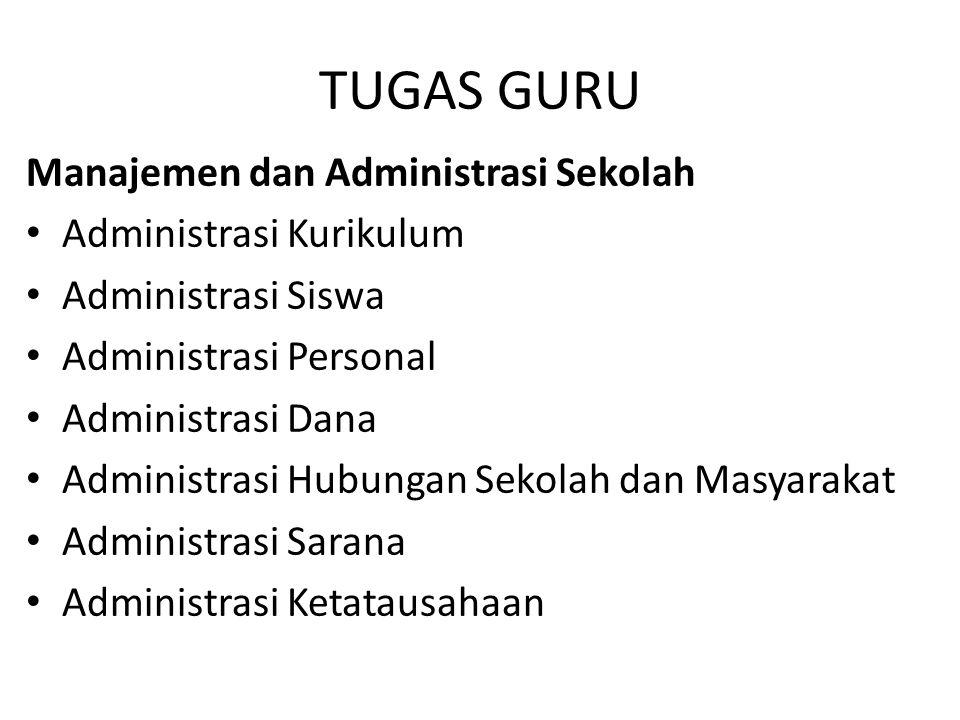 TUGAS GURU Manajemen dan Administrasi Sekolah Administrasi Kurikulum