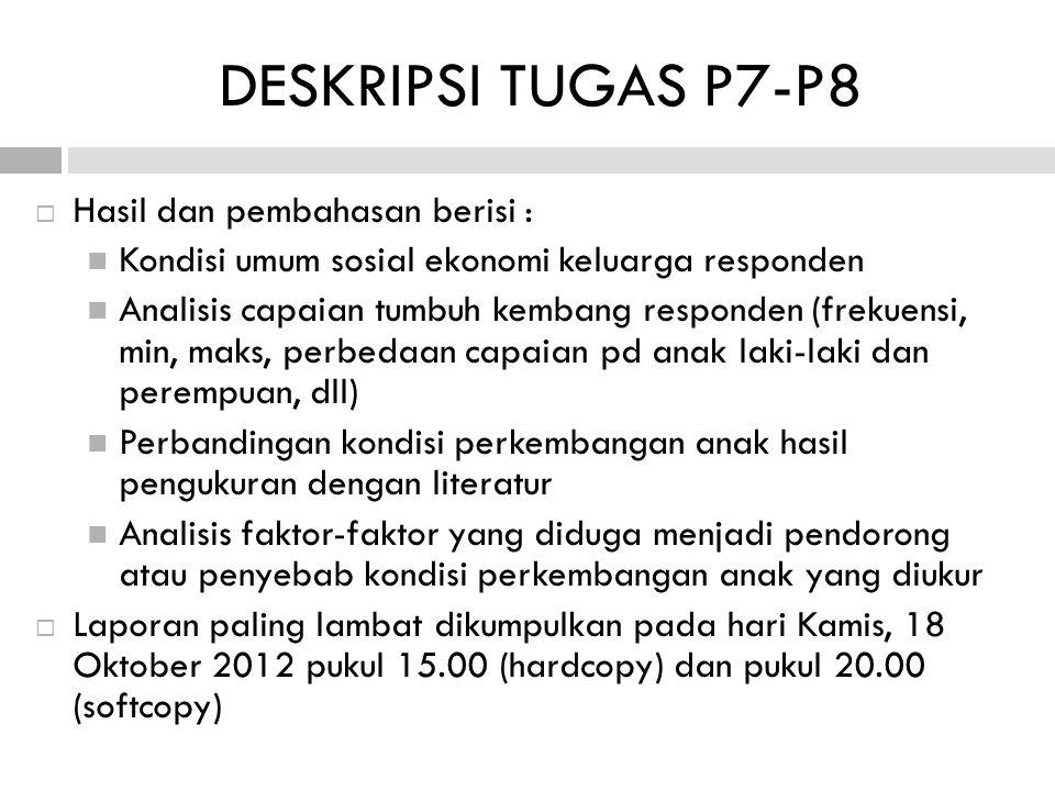 DESKRIPSI TUGAS P7-P8 Hasil dan pembahasan berisi :