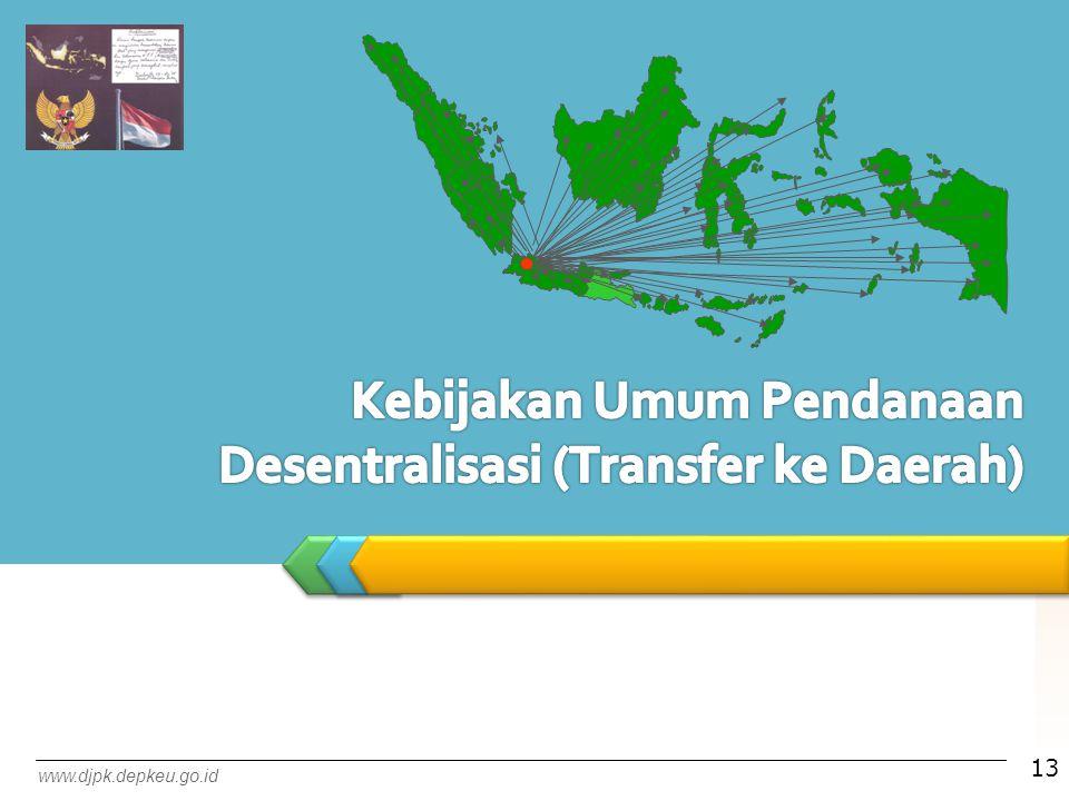 Kebijakan Umum Pendanaan Desentralisasi (Transfer ke Daerah)