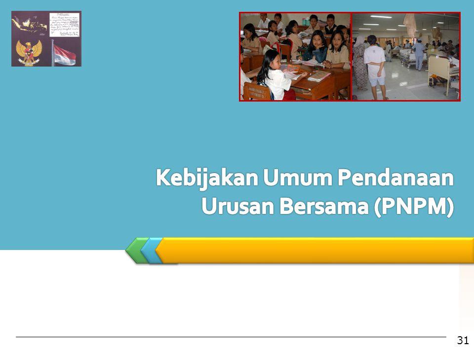Kebijakan Umum Pendanaan Urusan Bersama (PNPM)