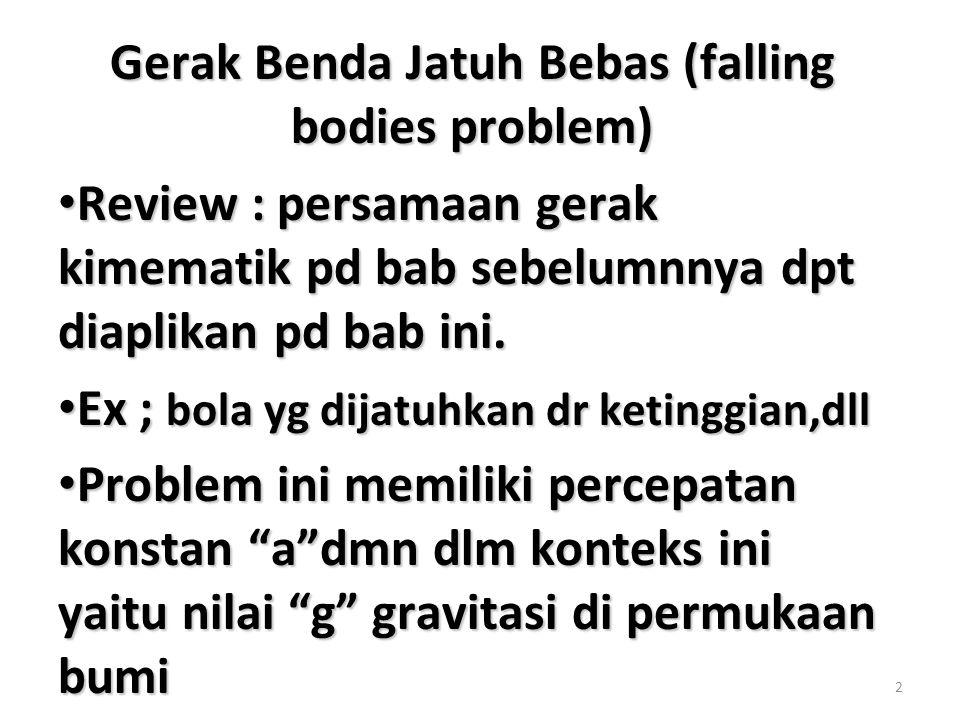 Gerak Benda Jatuh Bebas (falling bodies problem)