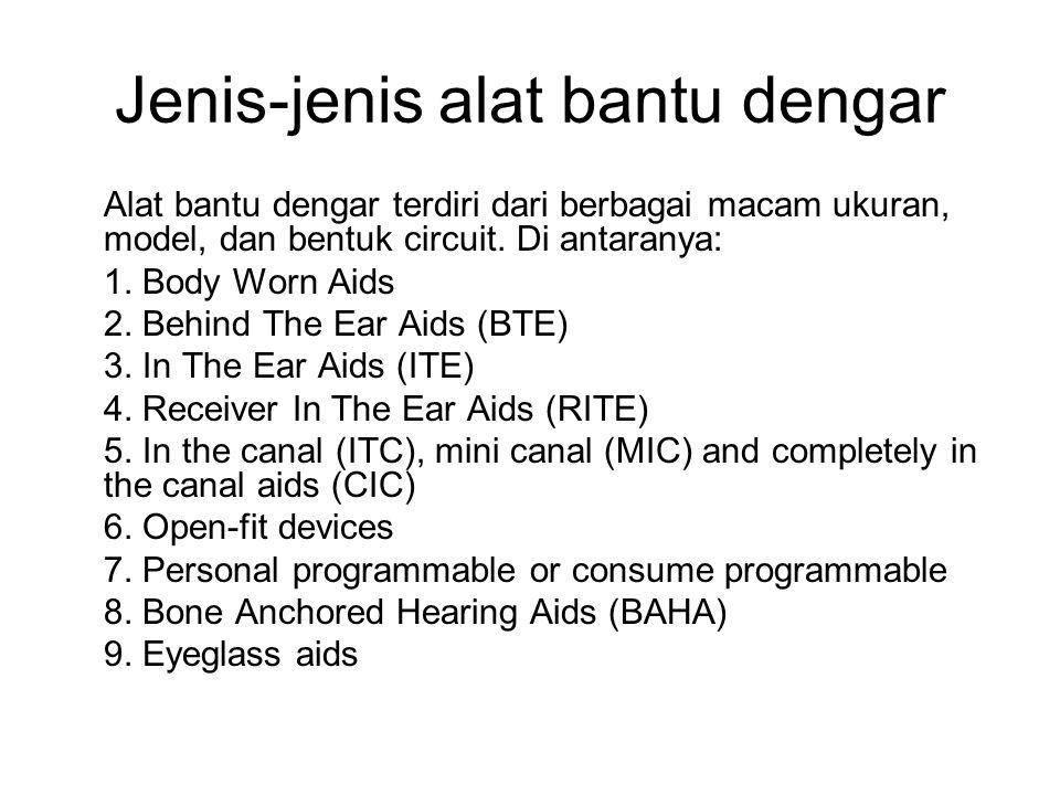 Jenis-jenis alat bantu dengar